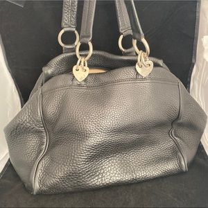 Marc Jacobs Black Pebble Leather Bag Purse